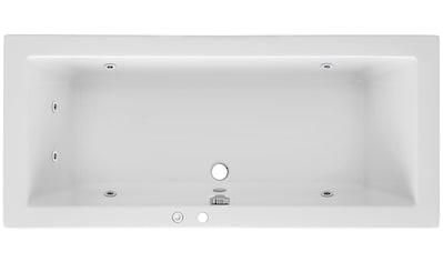 OTTOFOND Whirlpoolwanne »Cubic«, B/T/H in cm: 180/80/65,5 mit Whirlpool - System 1 kaufen