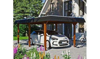 Skanholz Einzelcarport »Wendland«, Leimholz-Nordisches Fichtenholz, 291 cm, braun kaufen