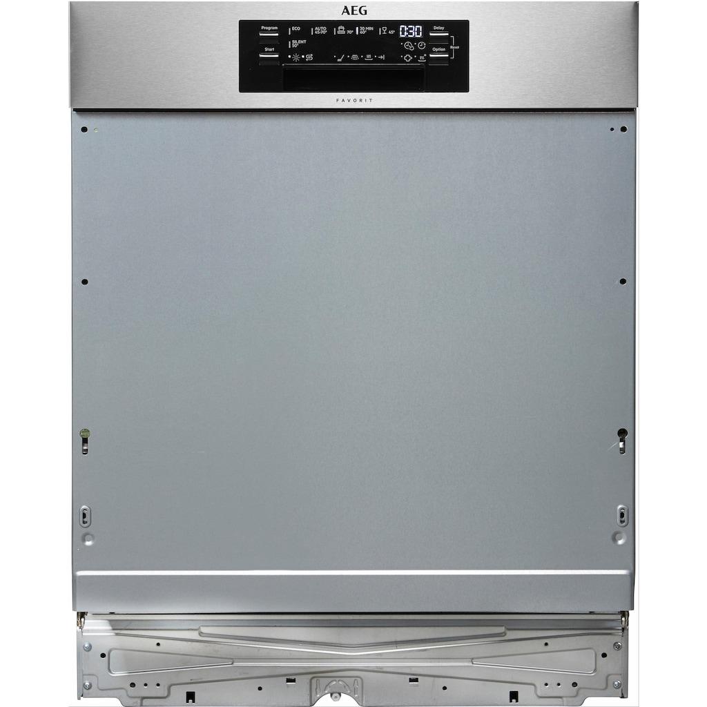 AEG teilintegrierbarer Geschirrspüler »FEE63800PM«, FEE63800PM, 13 Maßgedecke, mit ComfortLift - Hebefunktion