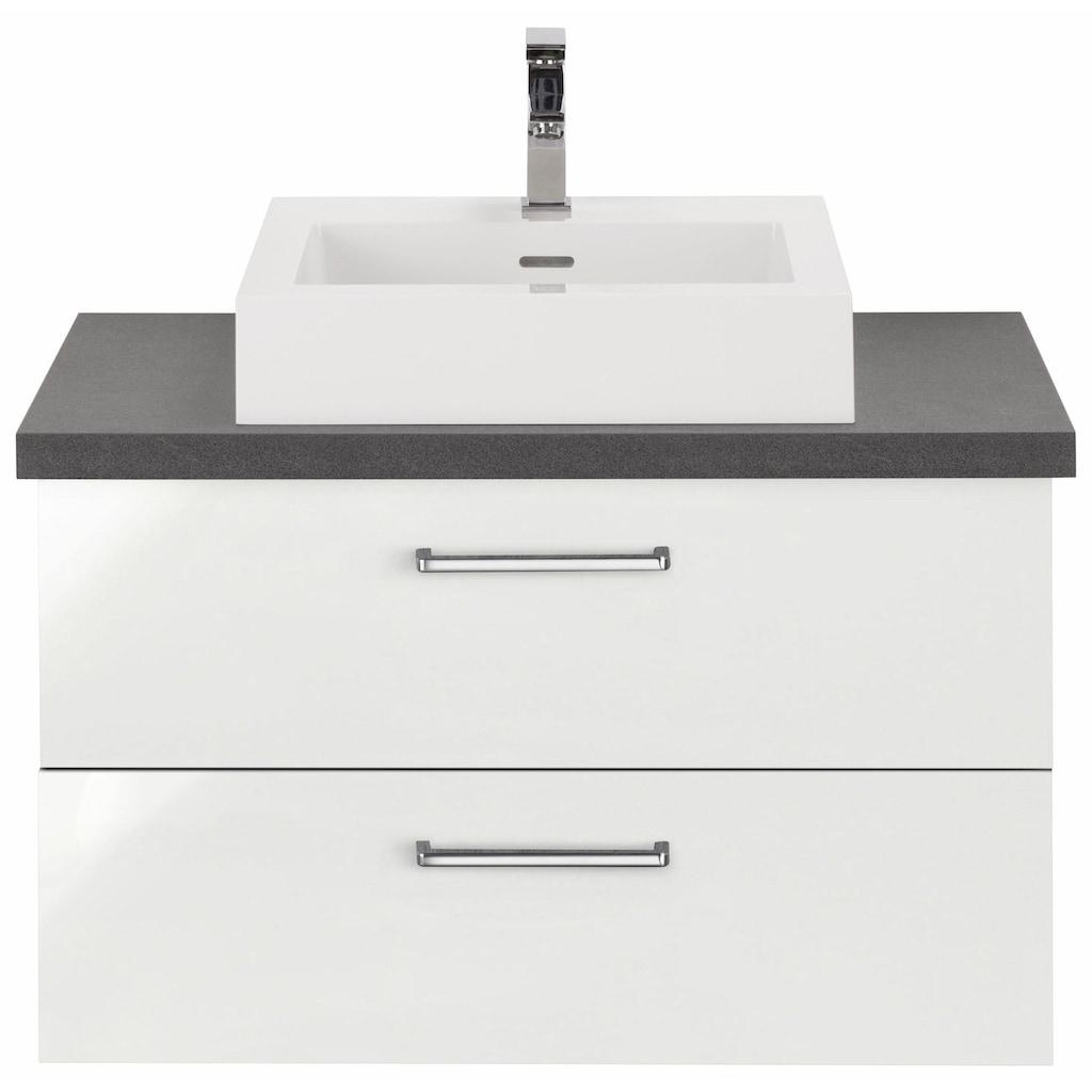 OPTIFIT Waschtisch »Doha«, mit Soft-Close-Funktion, Aufsatzbecken eckig, Breite 85 cm