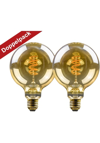 BLULAXA LED-Filament »Vintage«, E27, 2 St., Extra-Warmweiß, 2er-Set, Vintage Globe,... kaufen