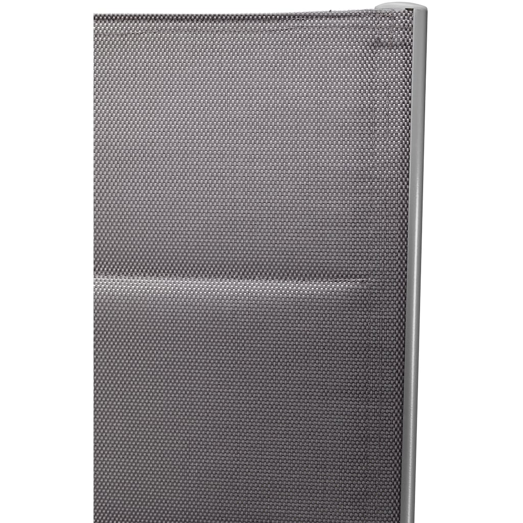 MERXX Gartenstuhl »Taviano«, 2er Set, Alu/Textil, verstellbar, silber
