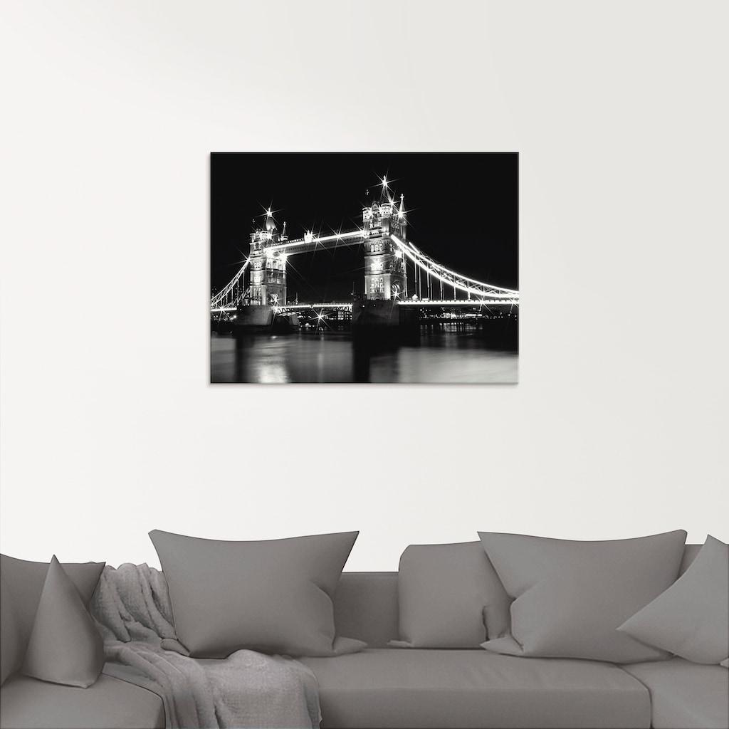 Artland Glasbild »Tower Bridge London«, Brücken, (1 St.)