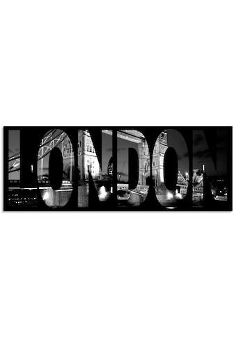Artland Schlüsselbrett »London«, aus Holz mit 4 Schlüsselhaken – Schlüsselboard,... kaufen