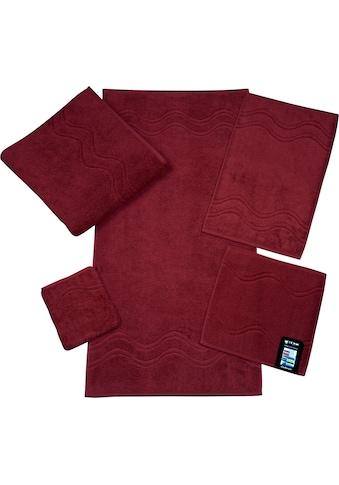 ROSS Handtuch »Cashmere«, (2 St.), mit Wellenbordüre kaufen