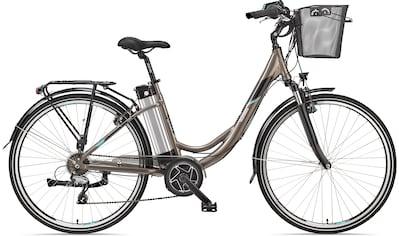 Telefunken E - Bike »Multitalent RC860«, 7 Gang Shimano Shimano Acera Schaltwerk, Kettenschaltung, Mittelmotor 250 W (mit Fahrradkorb) kaufen