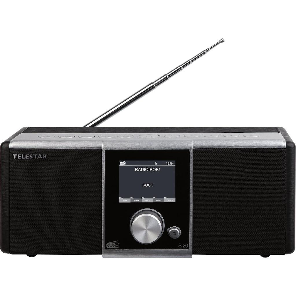 TELESTAR Digitalradio (DAB+) »S 20 Digitalradio«, (Digitalradio (DAB+)-UKW mit RDS-Internetradio)