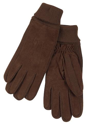 J.Jayz Lederhandschuhe, Mit Gummizug am Handgelenk kaufen