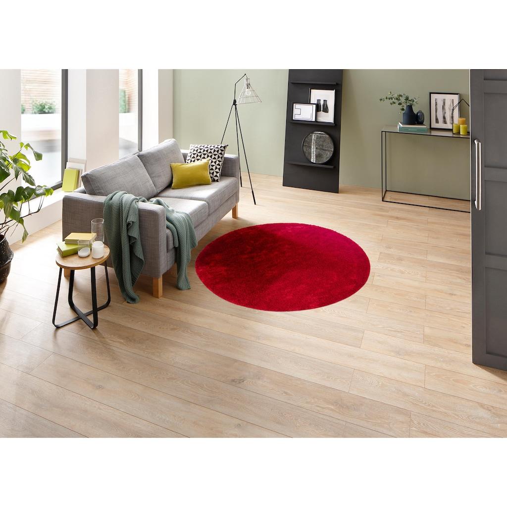 my home Hochflor-Teppich »Mikro Soft Ideal«, rund, 30 mm Höhe, Besonders weich durch Microfaser, extra flauschig