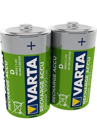 VARTA Batterie »RECHARGE ACCU Power vorgeladener C Baby NiMH Akku (2er Pack, 3000mAh)... kaufen