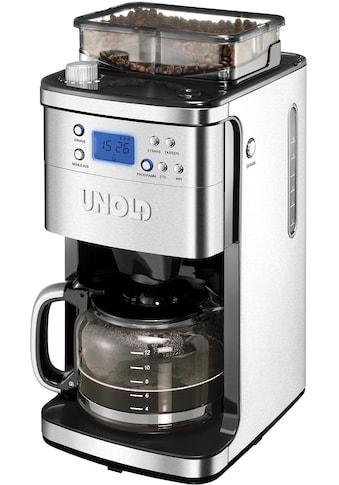 Unold Kaffeemaschine mit Mahlwerk »28736 Mühle«, Permanentfilter, 1x4, für 200g Kaffeebohnen kaufen