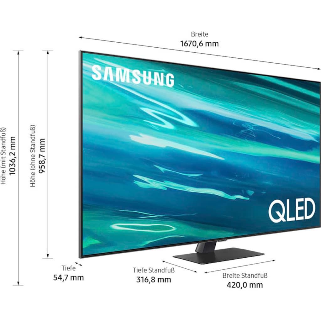 """Samsung QLED-Fernseher »GQ75Q80AAT«, 189 cm/75 """", 4K Ultra HD, Smart-TV"""