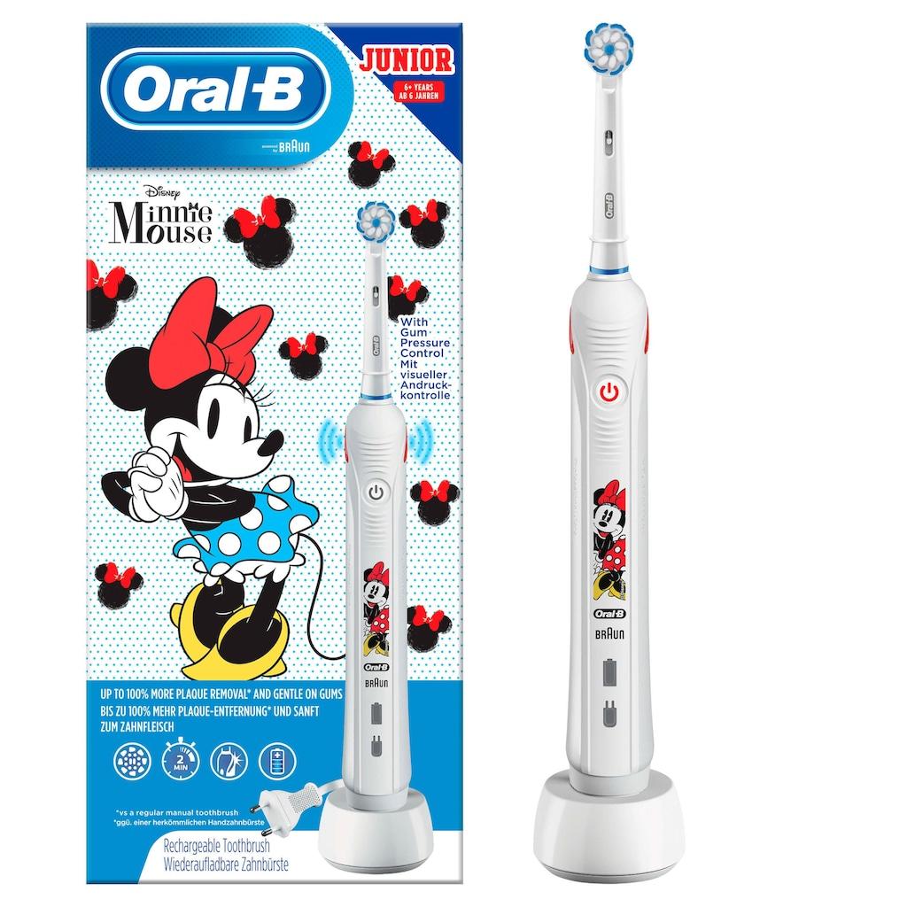 Oral B Elektrische Kinderzahnbürste »Junior Minnie Mouse«, 1 St. Aufsteckbürsten