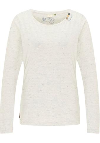 Ragwear Plus T-Shirt »FLORAH LONG ORGANIC PLUS«, mit Dekoknöpfen und charakteristischen Label-Applikationen kaufen