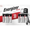 Energizer Batterie »MAX C Alkali Batterien 4er Pack«, (Packung, 4 St.)