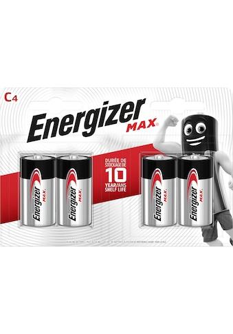 Energizer »MAX C4 Alkali 4er Pack« Batterie (4 Stück) kaufen