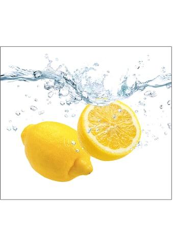 "Zeller Present Herdblende - /Abdeckplatte ""Lemon Splash"", Glas, (1 - tlg.) kaufen"
