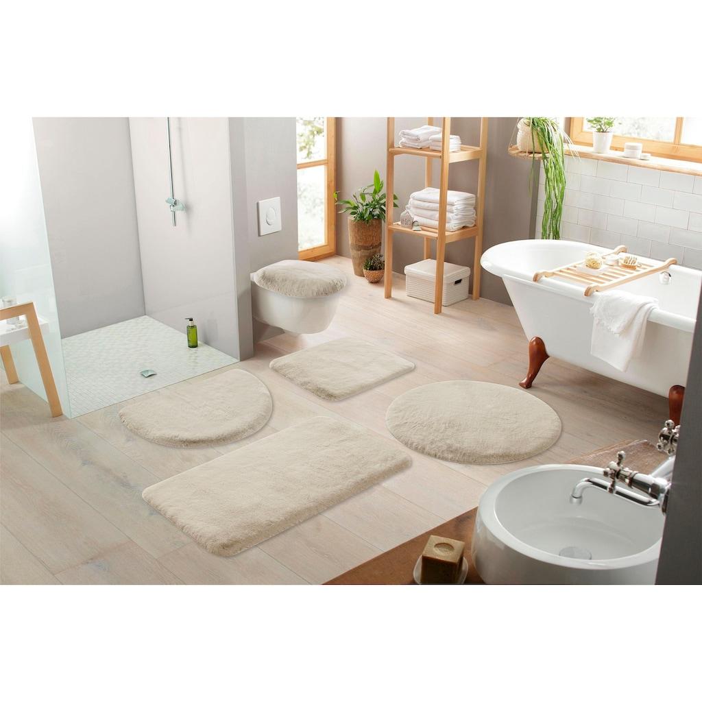 my home Badematte »Rabbit«, Höhe 30 mm, strapazierfähig, Kaninchenfell-Haptik