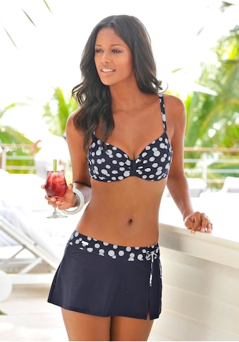 LASCANA Bade-Rock, mit integrierter Bikinihose und bedrucktem Bündchen kaufen