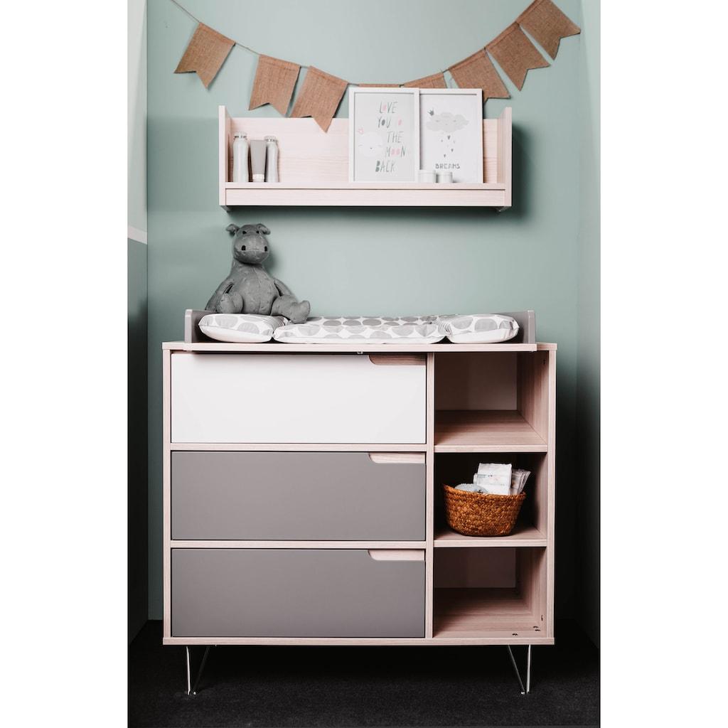 Geuther Babymöbel-Set »Marit, grau/weiß«, (2 St.), mit Kinderbett und Wickelkommode; Made in Germany