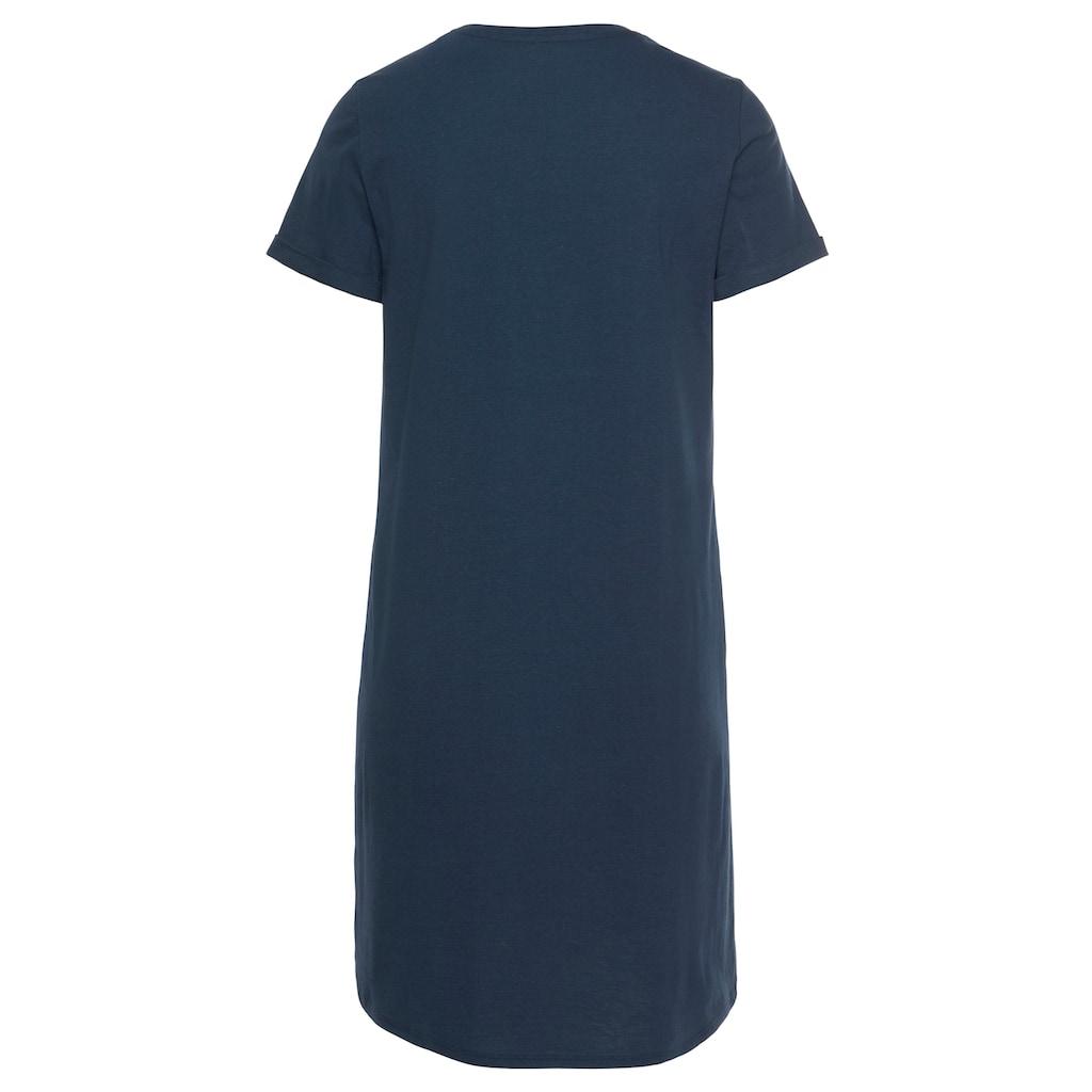 Schiesser Nachthemd, mit floralem Frontruck