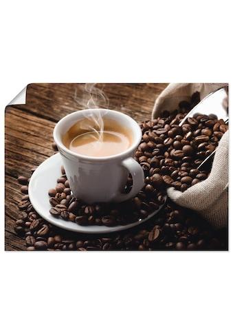 Artland Wandbild »Heißer Kaffee - dampfender Kaffee«, Getränke, (1 St.), in vielen... kaufen
