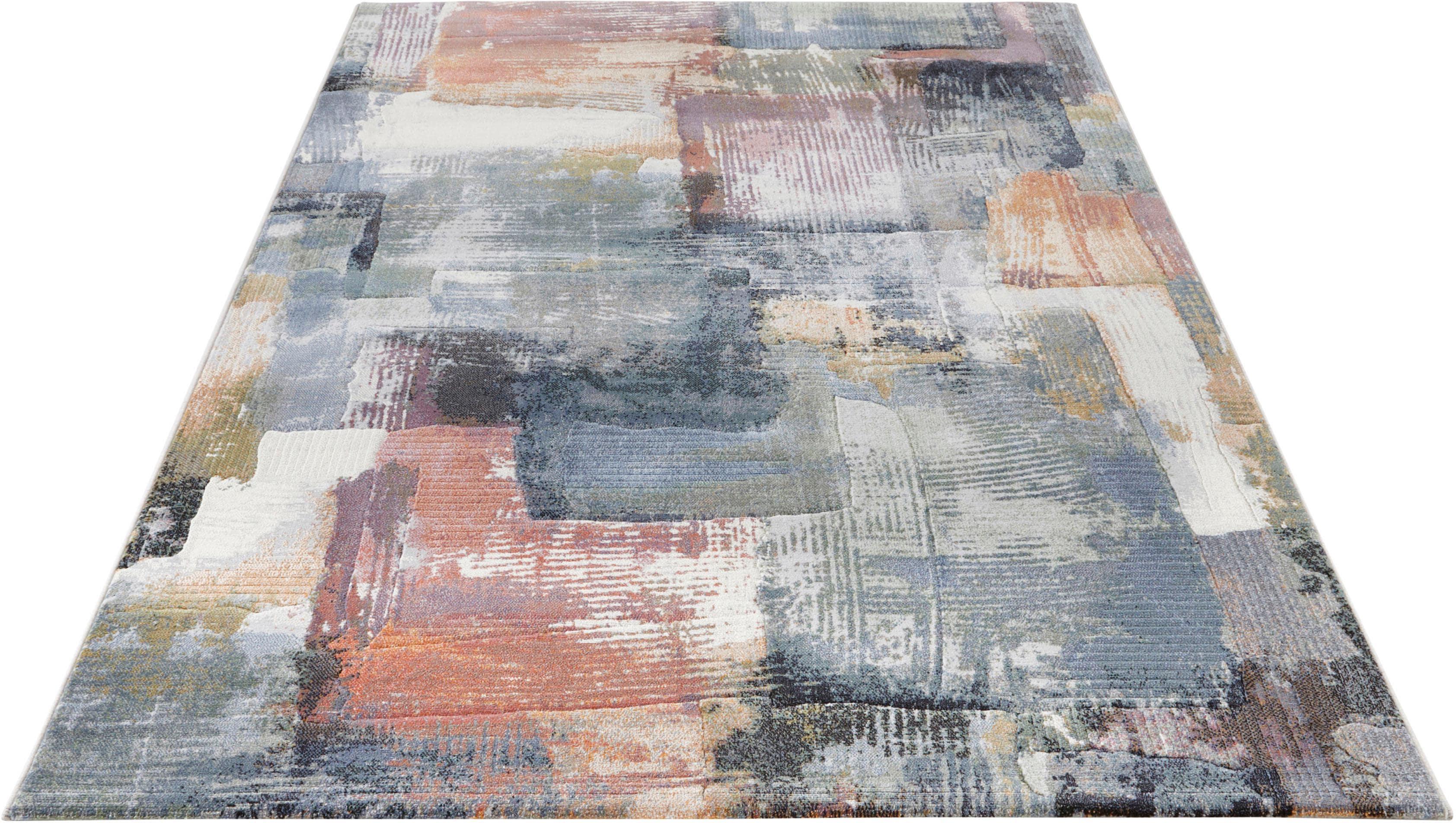 Teppich, »Bayonne«, ELLE Decor, rechteckig, Höhe 11 mm, maschinell gewebt   Heimtextilien > Teppiche > Sonstige-Teppiche   Bunt   ELLE DECOR
