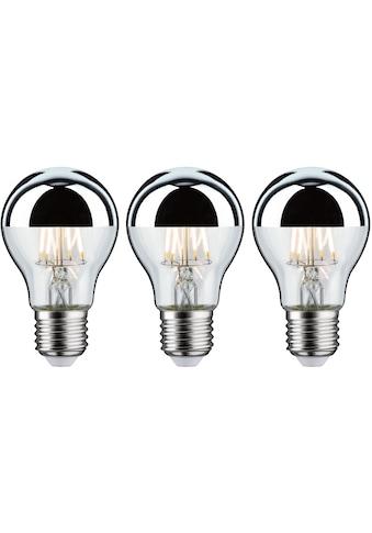 Paulmann LED-Leuchtmittel »3er Pack 6,5W Kopfspiegel E27 2700K silber«, E27, 3 St.,... kaufen