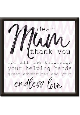Artland Wandbild »Liebe Mama« kaufen