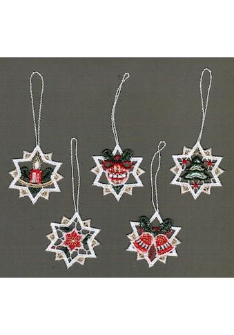 Stickereien Plauen Dekohänger »Sterne« (5 Stück) kaufen
