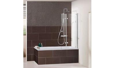 DUSBAND Badewannenfaltwand »Vital 1 Aufsatz/ Drehfalttür«, Anschlag rechts 120 cm kaufen