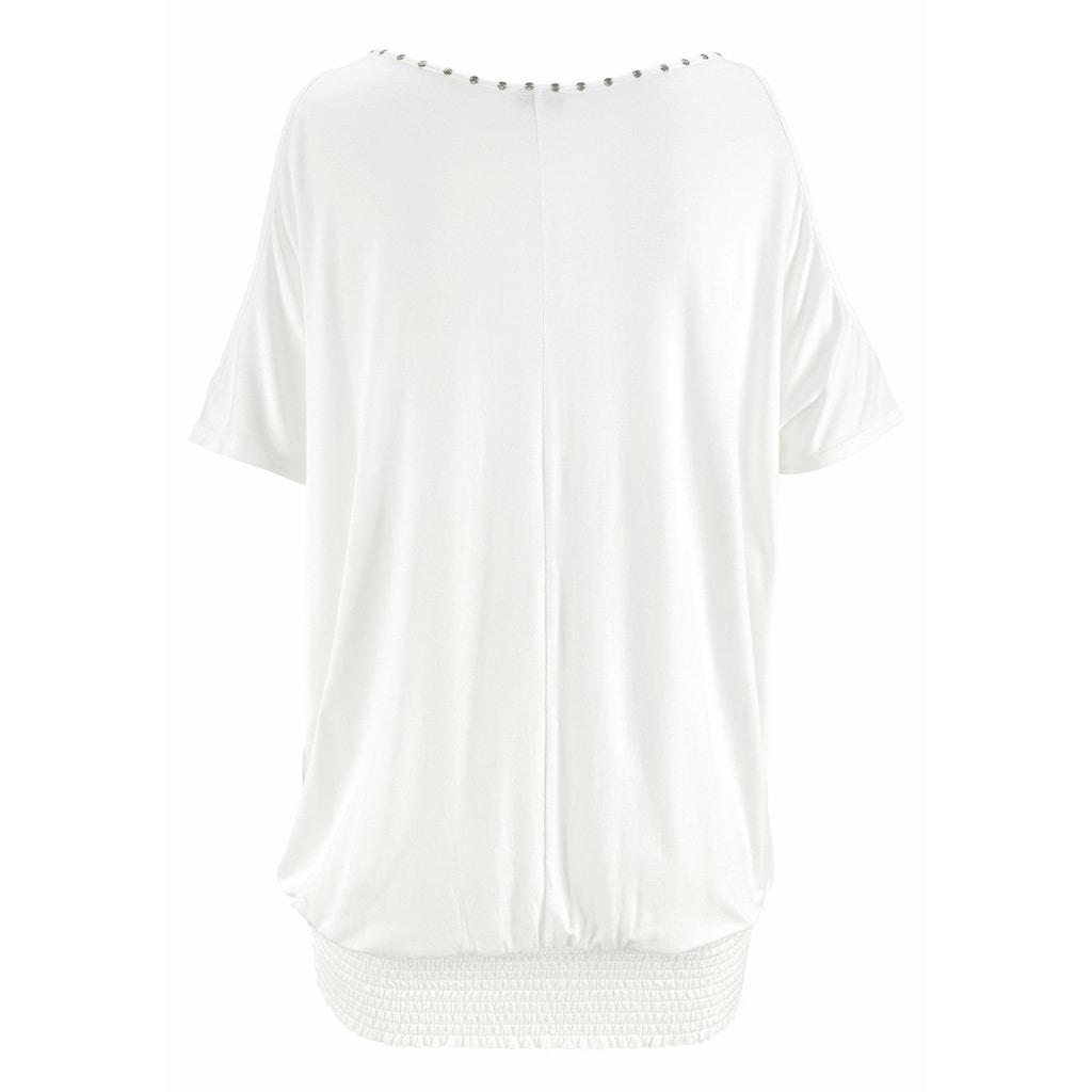 LASCANA T-Shirt, mit Nietenbesatz