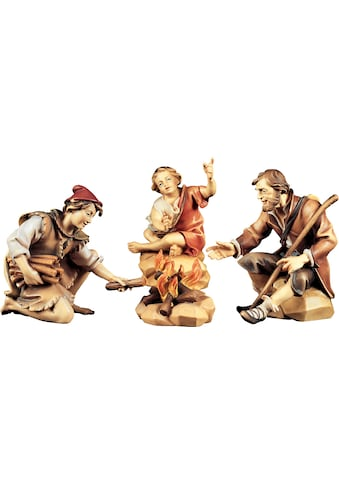 ULPE WOODART Krippenfigur »Hirtengruppe an der Feuerstelle«, Handarbeit, hochwertige Holzschnitzkunst kaufen