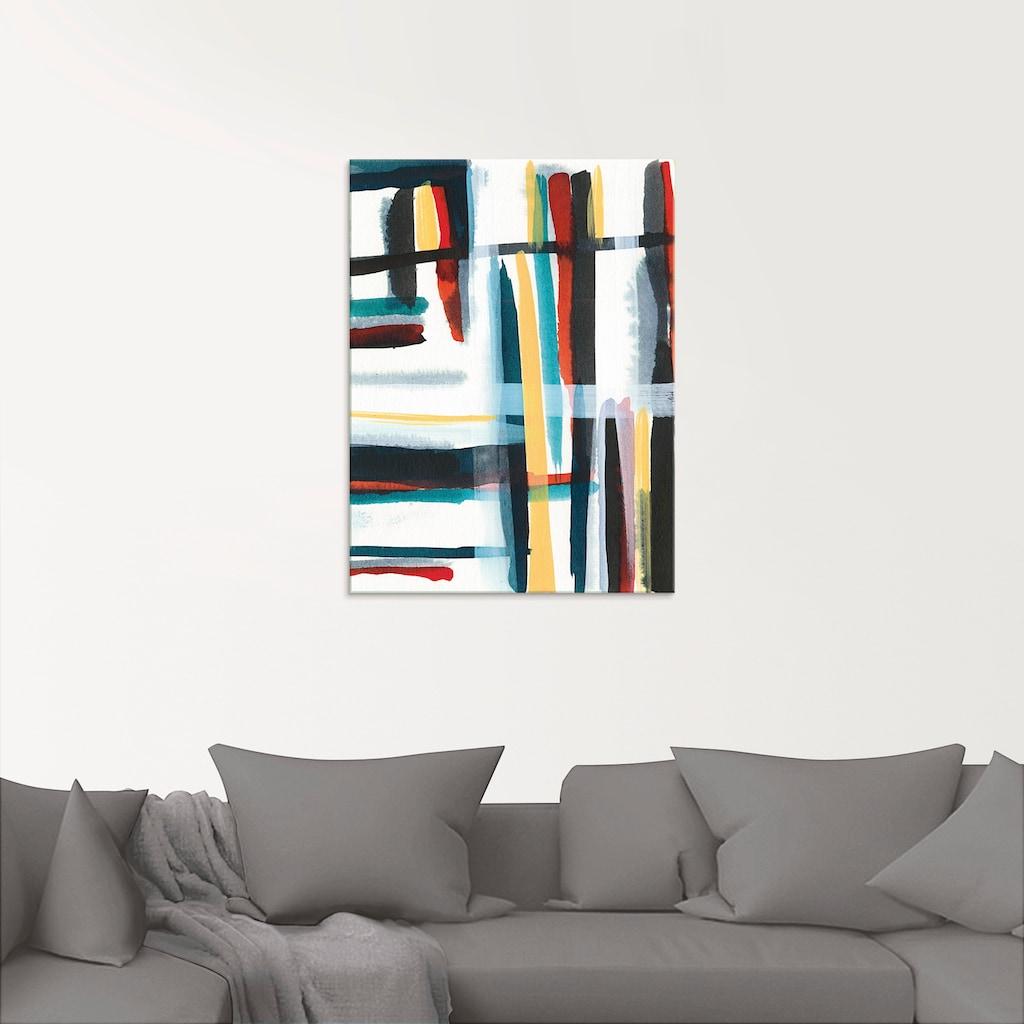 Artland Glasbild »Bücherregal I«, Muster, (1 St.)