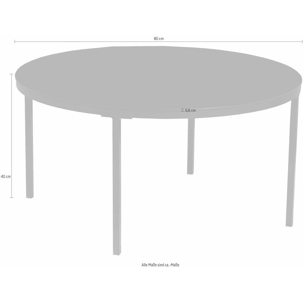 andas Couchtisch »Gaby«, mit einer schönen bronzefarbenen Spiegelglas Tischplatte, Tischplattenstärke 6 mm