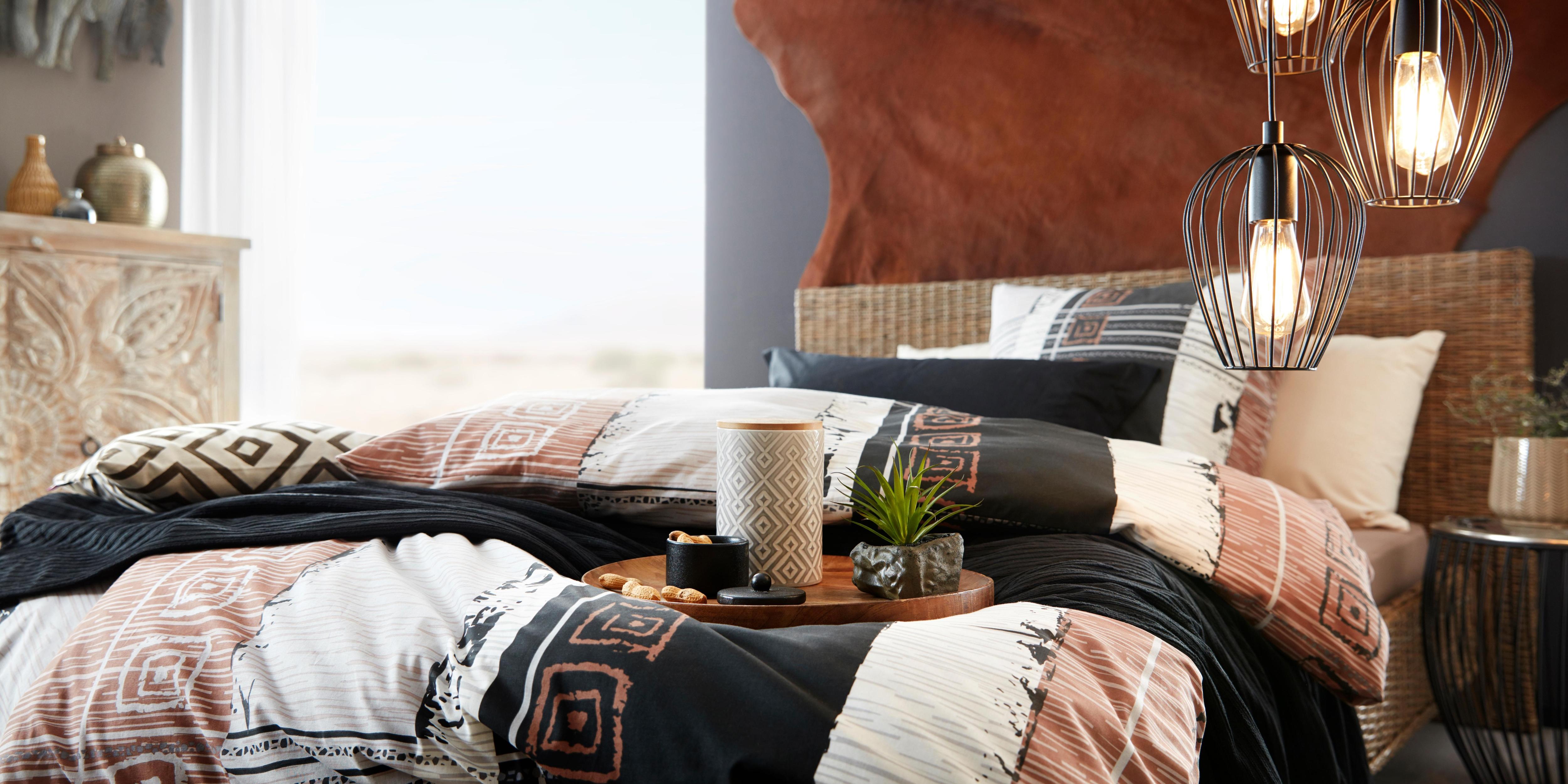 Home affaire »Rattanbett«, aus handgeflochtenem Rattan, mit einem Kopfteil von 90 cm, Höhe | Schlafzimmer > Betten > Rattanbetten | Mehrfarbig | Kubu - Lackiert | HOME AFFAIRE