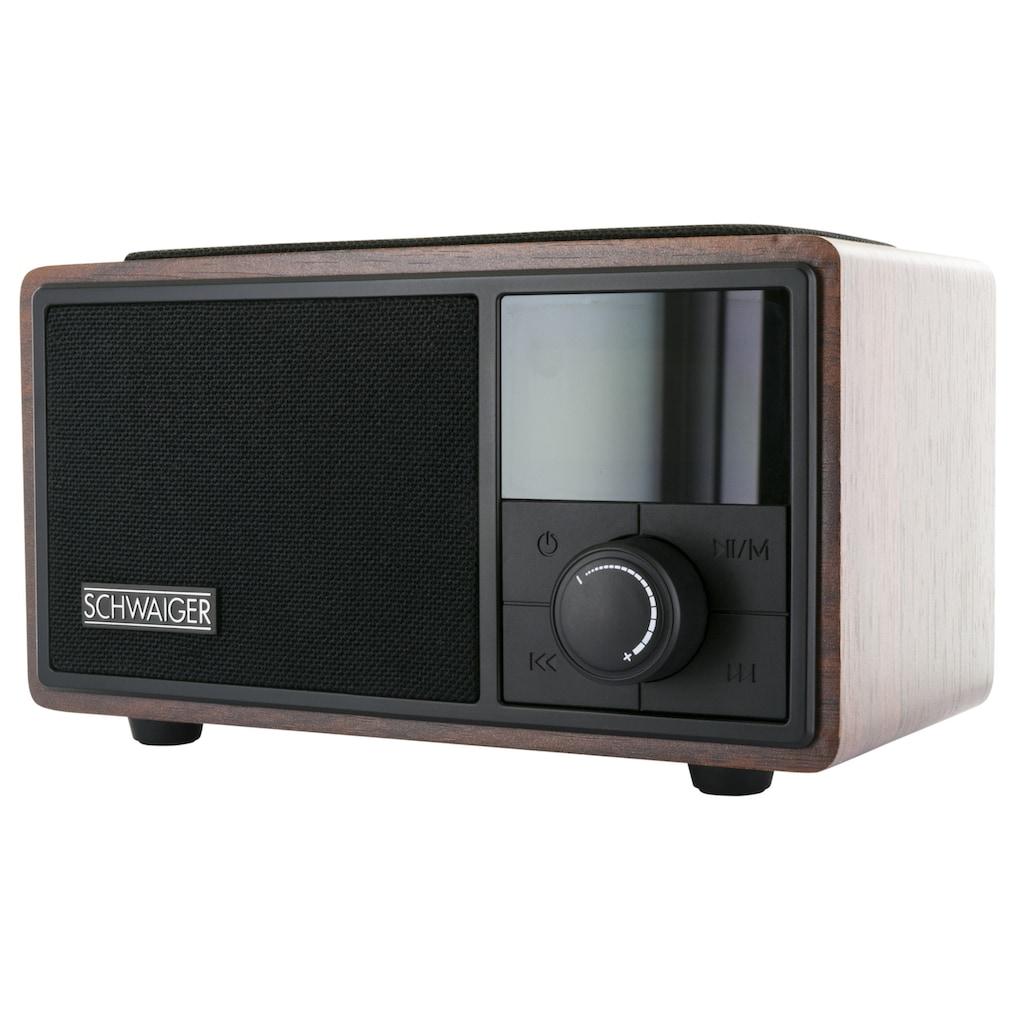 Schwaiger Radiowecker Bluetooth UKW FM Radio Wecker Lautsprecher AUX
