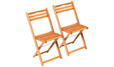 MERXX Gartenstuhl »Porto«, 2er Set, Eukalyptusholz, klappbar, braun kaufen