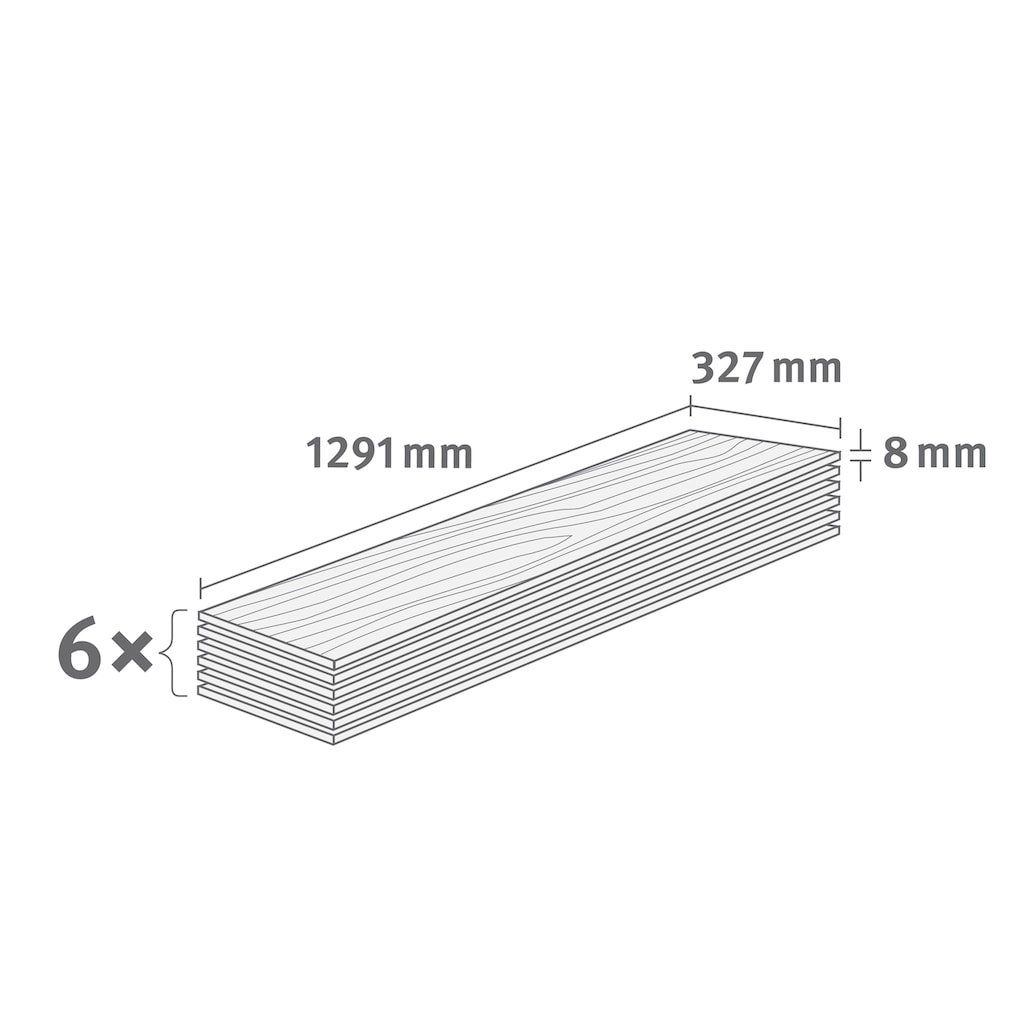 EGGER Laminat »HOME Cefalu Beton hell«, pflegeleicht, Fliesenoptik, 2,533 m²/Pkt., Stärke: 8 mm