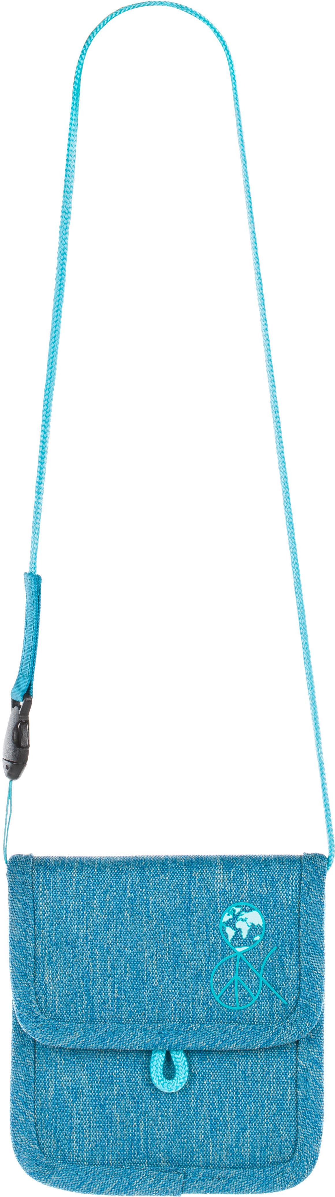 Lässig Brustbeutel, »4Kids Mini Neck Pouch, About Friends Mélange Blue« | Accessoires > Portemonnaies > Brustbeutel | Blau | LÄSSIG