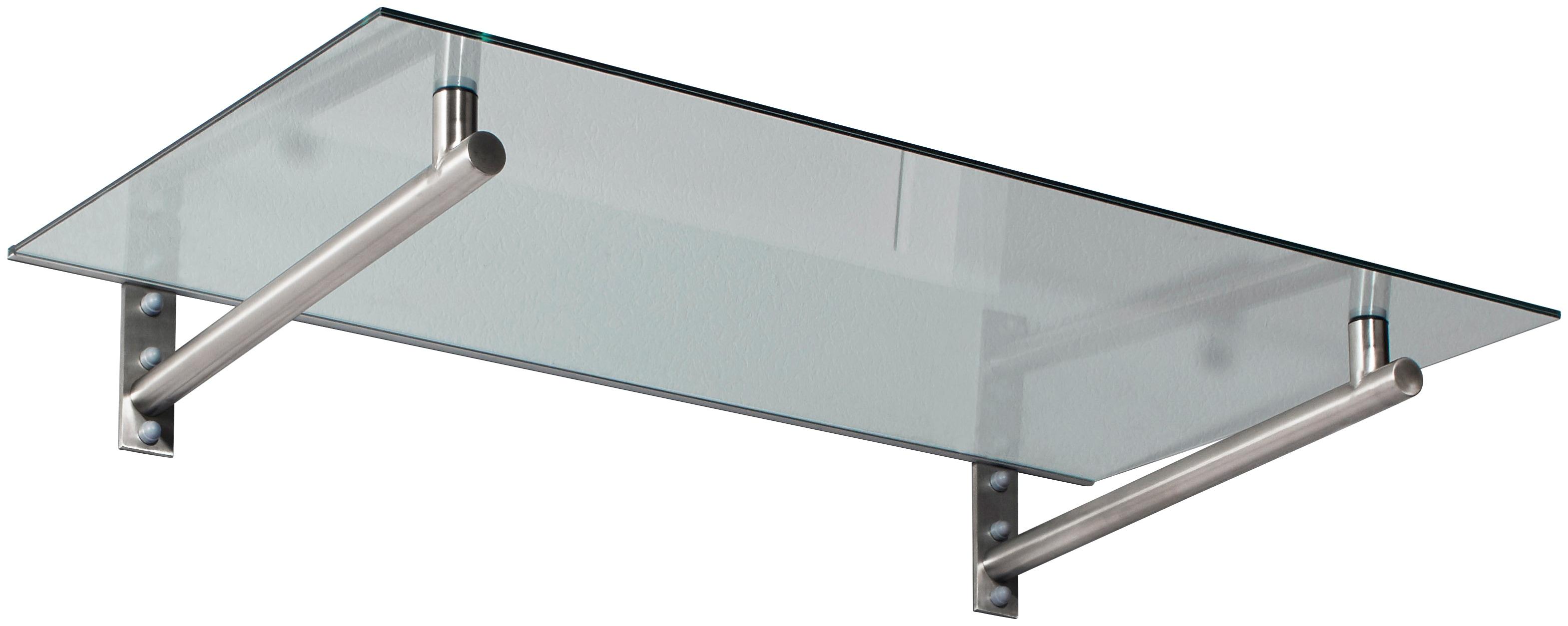 Gutta Vordach »HD 140«, 140x80x19,5 cm, silberfarben-transparent | Baumarkt > Modernisieren und Baün > Vordächer | Silberfarben | GUTTA