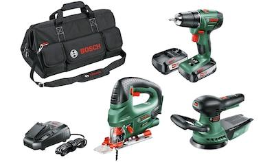 Bosch Powertools Elektrowerkzeug-Set, 7-tlg., bestehend aus: Stichsäge, Bohrschrauber,... kaufen