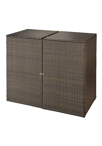 HANSE GARTENLAND Mülltonnenbox , für 2x240 l aus Polyrattan, B/T/H: 150/78/123 cm kaufen