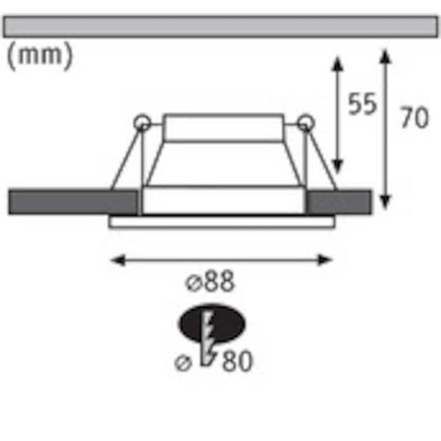 Paulmann,LED Einbauleuchte»Set Cole 3x6,5W Schwarz/Silber matt 3-Stufen-dimmbar 2700K Warmweiß«,