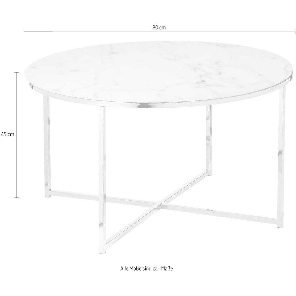 SalesFever Couchtisch, Tischplatte in Marmoroptik