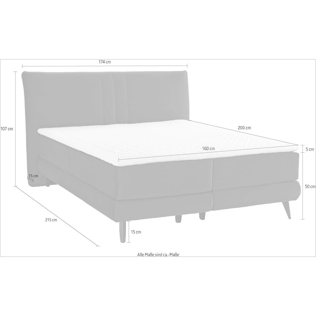 Places of Style Boxspringbett »Skien«, incl. Kaltschaumtopper, 2 Härtegrade, 3 Ausführungen