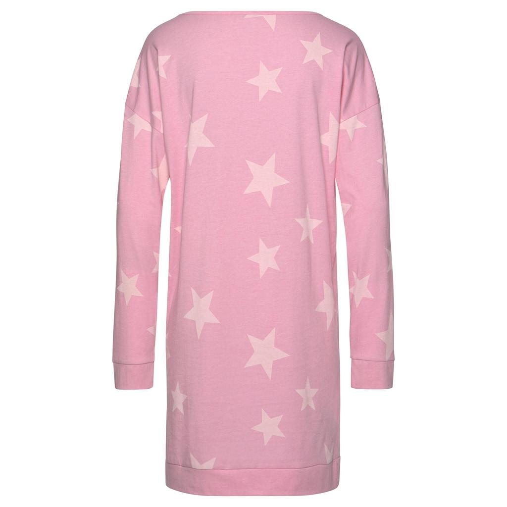 Arizona Nachthemd, (2er-Pack), in melierter Optik mit Sternen