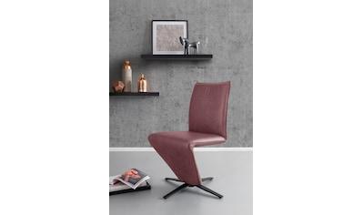 K+W Komfort & Wohnen Drehstuhl »Deseo II«, Stuhl mit federnder Sitzschale, Sternfuß in... kaufen