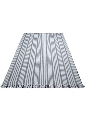 COUCH♥ Teppich »Auf Streifzug«, rechteckig, 8 mm Höhe, Mit Fransen, COUCH... kaufen
