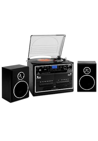 Auna Stereoanlage Plattenspieler Kassette Bluetooth Turntable »388 BT« kaufen